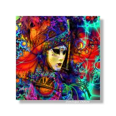Tableau carr 8 (Docaron) Tags: carnival venice composition mask drawing carnaval fractal tableau venise fractale masque dominiquecaron