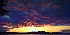 Sunset on Lake Memphremagog (Smile Moon) Tags: light sunset sun lake water colors clouds dark evening twilight vermont afternoon sundown dusk newport memphremagog