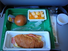 Breakfast () Tags: vacation holiday latinamerica southamerica argentina fruit breakfast plane sunrise airplane bread fly inflight buenosaires aircraft altitude flight jet sandwich aerial airbus windowview vol rtw airplanefood airliner vacanze avion a320 windowseat roundtheworld sudamerica vuelo plasticfork amricadosul amricalatina globetrotter southernhemisphere flug zonasul areo fruitcup hamsandwich amriquelatine plasticspoon argentinien 16days  amricadelsur sdamerika hedfan worldtraveler ariannin    repblicaargentina    americadelsud argentinidad ario   a320airbus   inthecabin