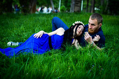In green grass (wooggy) Tags: park street flowers blue boy portrait sunlight color art nature colors girl beauty face sunshine fashion forest canon wonderful hair outdoors spring fantastic model eyes couple pretty shadows dress russia bokeh outdoor magic handsome hugs shoulders brunette russian lovestory voile krasnodar russians greengrass fairytail longdress eyeshadows russiangirl 600d 85mm18 canon85mm18 nakedshoulders 35mm14 sigma35mm14 dresswithatrain