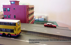 1:150 Diorama Model | Junction of Wan Chai Fire Station & Canal Road Flyover, Hong Kong     |  (AC Studio) Tags: road street city west bus scale buses station paper fire bay canal miniature model asia modeling scenic n mini scene east made cardboard wan  scratch gauge modelling making chai flyover diorama causeway cwb 1150 hennessy scratchbuilt