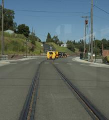 Street Running Palouse Idaho (Trevor Sokolan) Tags: railway idaho fairmont speeder palouse narcoa