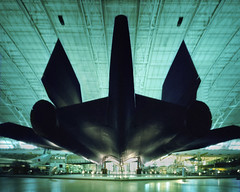 SR-71 Blackbird Through a Pinhole (integrity_of_light) Tags: film aircraft aviation pinhole stealth 4x5 blackbird sr71 spyplane supersonic udvarhazy