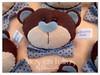ursinho marrom azul (artesemfeltrosbyjulianacwikla) Tags: de porta feltro decoração festas urso maternidade principe enfeite passarinhos lembrancinhas guirlandas guitarrinhas