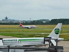 Germania HOP! (niedersachsenfoto) Tags: start airport bremen hop flughafen germania airfrance flug startbahn rollfeld airportcity niedersachsenfoto neuenlanderfeld