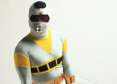 Power Ranger Portrait D (nefsuitscs) Tags: power spandex lycra powerranger encasement zentai nefsuits