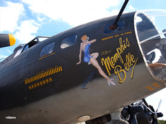 131109_013_MemBelle (AgentADQ) Tags: movie airplane flying force memphis aviation air b17 belle boeing bomber fortress warbird warplane commemorative