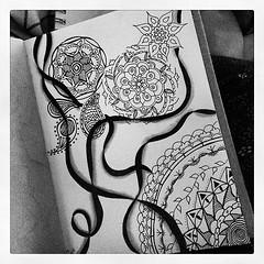 Mandalas and ribbons (ZenHenna--CariSultanik) Tags: mandala zentangle zendala