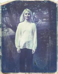 Siv I (Andreas Ulvo) Tags: portrait film vintage polaroid chili jazz 330 drummer vanilla expired 669