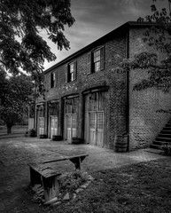 Old Garage (Jon Dickson Photography) Tags: blackandwhite st stlouis charles mysterious garages