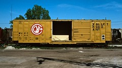 Your barn door is open! (PrairieRailfan) Tags: yard boxcar decaturil wvrc kodachromeslidescan opticfilm7600islidescanner vuescanscanningsoftware wvrc8160 copyright1981michaelmatalis