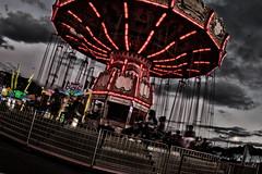 Merry Go Round (Johnny Silvercloud) Tags: carnival summer festival landscape fun oahu outdoor jubilee families joy streetphotography fair ferriswheel rides honolulu 50thstatefair localhawaii