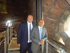 "Stephen Mosley MP and Culture Secretary Sajid Javid MP on tour of Cathedral at Height • <a style=""font-size:0.8em;"" href=""http://www.flickr.com/photos/51035458@N07/14389876255/"" target=""_blank"">View on Flickr</a>"