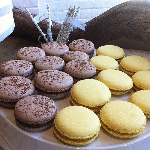 Chocolate and Lemon French Macaroons