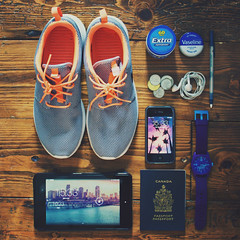 flight mode essentials (thatgirlwiththekicks) Tags: trip travel summer holiday apple pen gum airplane shoes watch flight 7 run canadian daily sneakers nike collection abroad headphones change chewing runners kicks passport mode nexus 4s vaseline essentials fhd iphone neff roshe rosherun