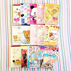 kawaiiya (mini) haul. (JU671NE) Tags: cute paper sanrio kawaii stationery crux qlia fortissimo sanx kamio mindwave poolcool cramcream lemonco