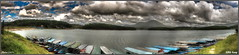 Tuyen Lam lake, a rainy day (Korpfeegraf) Tags: sky panorama lake landscape boat iso200 cloudy sony wide large noon dalat f11 hdr a77 1870 2014 30mm 3656 115s tuyenlam cropsensor