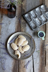 Lemon Madeleines + Lavender Glaze for Wit + Aroma (Maggie Pate) Tags: food canon props styling foodblog foodphotography propstyling maggiepate foodstyling witandaroma