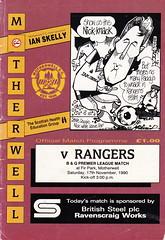 Motherwell vs Rangers - 1990 - Cover Page (The Sky Strikers) Tags: park ian nick cartoon fir premier rangers league skelly motherwell bq cusack ravenscraig