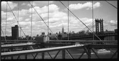 Manhattan Bridge (photogreuhphies) Tags: film analog panoramic hasselblad brooklynbridge pan ilford redfilter 50iso 80mm 500cm carlzeiss lc29 ilfotec 80mmct 6x3mask hasselblad6x3mask