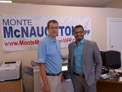 Monte meeting with Sean Hemraj of SRG to discuss Ontario's labour issues