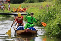 Crazy Raft Race _ 014 (lens buddy) Tags: uk england wet somerset rafting raft watersports fancydress cameraclub summergames langport thorney canoneosdigital crazyrafting lowlandgames2014