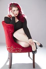 Samie Jean (austinspace) Tags: portrait woman studio washington spokane redhead pinup leotard alienbees
