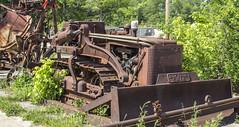 Bucyrus Erie (will139) Tags: rust rusty heavyequipment ruralindiana bucyruserie us136 roadworkingequipment