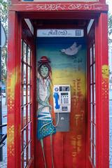 F5524 ~ A happy phone cabin [Explore] (Teresa Teixeira) Tags: cabin colours explore porto 23 sayit teresateixeira fujixt1 coloursofporto happyphonecabin sayhellotohappiness