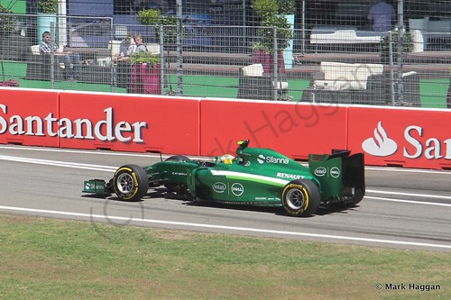 Marcus Ericsson in his Caterham in Free Practice 2 at the 2014 German Grand Prix
