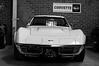 1971 Corvette ZR2 (Rob Scorah) Tags: blackandwhite bw chevrolet sports car 50mm nikon stingray garage american gt corvette v8 vette d300 bigblock zr2