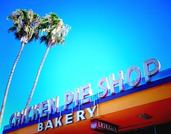 Serving chicken pies since 1955 (the year Disneyland opened), in Anaheim -- this is Pie Shop vintage neon sign 1 of 2 (mollyblock) Tags: california ca signs chicken 1955 animal sign vintage restaurant neon diner palmtrees socal 1950s signage americana roadside southerncalifornia anaheim midcentury iphone vintagesign vintageneonsign chickenpieshop explored lapalmachickenpieshop iphoneography mollyblock colorvibefilter