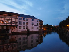 Dellers Wharf (the justified sinner) Tags: night river somerset wharf 20mm taunton westcountry f17 dellers gx7 justifiedsinner buildingpanasonic