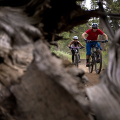 CrossCountry Riders Through Log