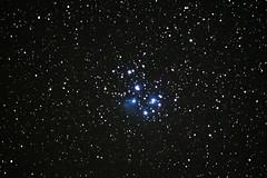 The Pleiades (stephanhaverland) Tags: nightsky night nightscape deepsky deepskyphotography deepspaceobject deepspaceobjects space stars sky star starfield dso astronomy astrophotography pleiades m45 universe astrometrydotnet:id=nova1968262 astrometrydotnet:status=solved