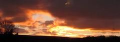 sunrise (the.haggishunter) Tags: morning staffordshire moorland march sunrise sky red orange yellow light dark landscape