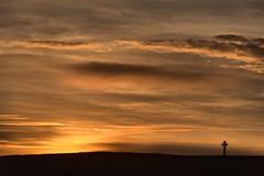 On Tennyson Down (Gary Baldy) Tags: sunset tennysonmonument tennysondown freshwaterbay isleofwight pentaxk3 sigma18250mmmacro