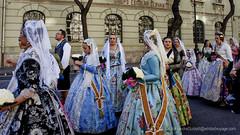 Parade of Falleras (Sailor Alex) Tags: valencia spain fallas architecture celabration fiesta fire city urban