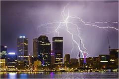 Perth lightning (beninfreo) Tags: perth lightning westernaustralia storm cell bolt electricity city cbd skyscraper canon 5d3 5dmarkiii 1740mml australia weather