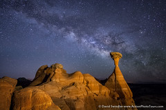 Cosmic Toadstools (David Swindler (ActionPhotoTours.com)) Tags: toadstools utah kanab toadstool thetoadstools grandstaircase starsmilkyway nightscape escalante night