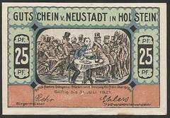 Neustadt in Holstein - 1/8 (NoeCR) Tags: notgeld alemania germany neustadtinholstein papelmoneda notafilia worldpapermoney emergencymoney dinerodeemergencia