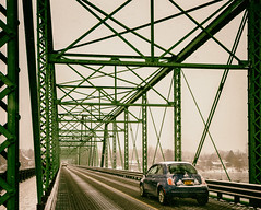 Snowy Bridge (Darren LoPrinzi) Tags: canon7d lambertville nj newjersey canon bridge street streetphotography snow storm fog road pa newhope pennsylvania newhopepa