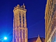 Emmanuel Episcopal Church Tower - Baltimore, MD (oscarpetefan) Tags: oscarpetefan nikon d600 nikkor 50mmf12 ai baltimore maryland mountvernon nightlights emmanuelepiscopalchurchtower on1pics on1photoraw dxo11