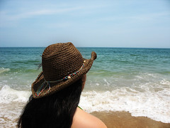 a (ideacanal) Tags: woman girl black hair latina hat ocean cowboy island cowgirl lost deserted maryland stranded assateague water beach sea nature summer waves relaxation sky beauty romantic sand hispanic scene tropical clean reflection tourism sunshine vacations turquoise seascape blue landscape travel natural season swimming vacation peaceful coast clear scenery horizon md spanish surf paradise