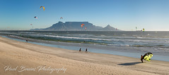 Playtime in Cape Town (Panorama Paul) Tags: paulbruinsphotography wwwpaulbruinscoza southafrica westerncape capetown tablemountain blaauwbergbeach kitesurfers waves beach panorama nikond800 nikkorlenses nikfilters