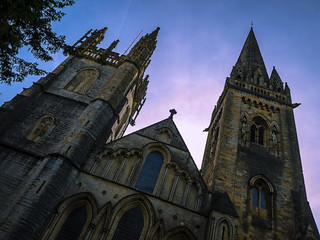 Llandaff Cathedral at a jaunty angle!!