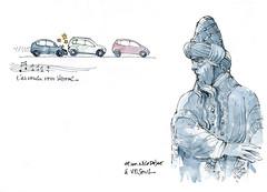 Sur la route de Besançon... (gerard michel) Tags: france franchecomté vesoul nicodème sketch croquis