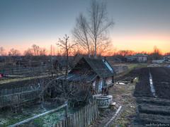 Вечерний пейзаж (AntonMBird) Tags: пейзаж деревня закат вечер