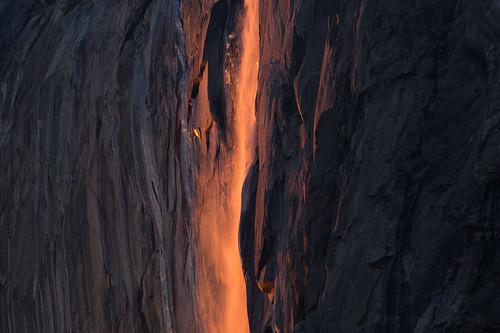 Abstract Fire (Maddog Murph) Tags: firefalls yosemite national parks explore abstract orange purple granite horsetail waterfall water refraction light reflection glow illuminate illuminated yosemitenps california bay area san francisco