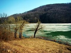 Early Spring (R_Ivanova) Tags: nature landscape lake dam spring water ice tree colors color coast sky sony rivanova риванова българия габрово природа пейзаж пролет лед гачевци